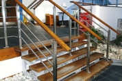 Stainless Steel & Wood Rail System