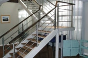 Fabricated Staircase with Stainless Steel Handrail