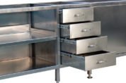 Complete st/st unit with drawers